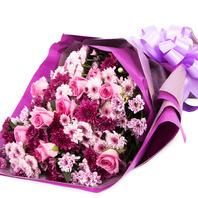 [플라워포유] 소국 & 장미 (RM_RBC2045) [꽃다발/결혼기념일/크리스마스/프로포즈/화이트데이/발렌타인데이]