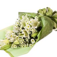 [플라워포유] 백합과소국화 (RM_RBC8057) [꽃다발/결혼기념일/크리스마스/프로포즈/화이트데이/발렌타인데이]