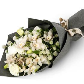 [플라워포유] 화이트꽃다발 (RM_RBC8062) [꽃다발/결혼기념일/크리스마스/프로포즈/화이트데이/발렌타인데이]