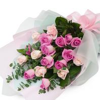 [플라워포유] 핑크빛혼합장미 (RM_RBC9026) [꽃다발/결혼기념일/크리스마스/프로포즈/화이트데이/발렌타인데이]