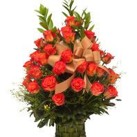 [플라워포유] 오렌지로즈 (RM_RAC3015) [꽃바구니/결혼기념일/크리스마스/프로포즈/화이트데이/발렌타인데이]