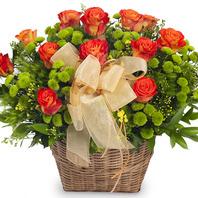 [플라워포유] 꽃바구니 (RM_RAC3098) [꽃바구니/결혼기념일/크리스마스/프로포즈/화이트데이/발렌타인데이]