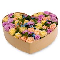 [플라워포유] 하트상자 90c (RM_RCB1020) [꽃상자/결혼기념일/크리스마스/프로포즈/화이트데이/발렌타인데이/로즈데이/기념일/특별한날/생일선물]