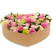 [플라워포유] 핑크카네이션하트박스 (RM_RCB1023) [꽃상자/결혼기념일/크리스마스/프로포즈/화이트데이/발렌타인데이/로즈데이/기념일/특별한날/생일선물]