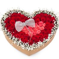[플라워포유] 하트상자 91c (RM_RCB3017) [꽃상자/결혼기념일/크리스마스/프로포즈/화이트데이/발렌타인데이/로즈데이/기념일/특별한날/생일선물]